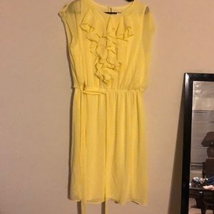 ModCloth size 16 yellow pussy bow dress